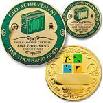 5000 Finds Geocoin + Pin + Box