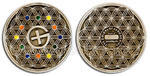 The Colors of Geocaching Geocoin - Antique Silver