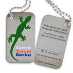Czech Travel Gecko tag - green