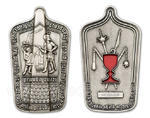 Hussite Shield geocoin - Antique Silver