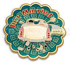 Just Married Geocoin - Gold