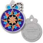 Micro Compass Rose Geocoin - Travel Tag