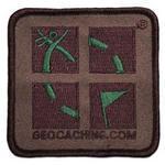 Camo Geocaching Logo Patch