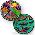 Peace Night and Day Geocoin