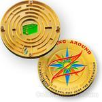Round Maze Geocoin - Caching Around
