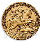 Saint George Geocoin - Antique Bronze