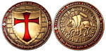 Templar Geocoin Antique Gold