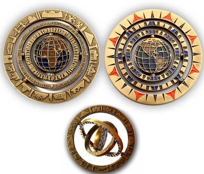 10 Years Geocaching Geocoin - Antique Gold