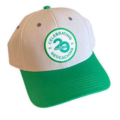 Celebrating 20 Years of Geocaching Cap