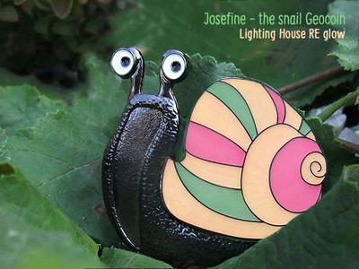 Josefine - the Snail Geocoin - Lighting House RE - 1
