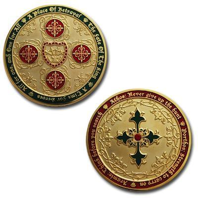 Four Musketeers Very Merry Geocoin - 1