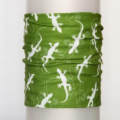 Tube bandana Gecko - olive green - 1