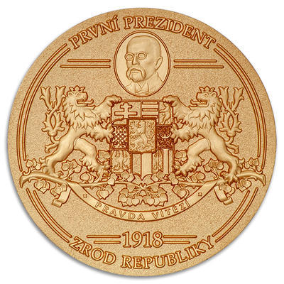 1918 The Birth of Czechoslovakia - Antique Gold - 1