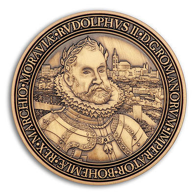 Rudolf II. Geocoin - Antique Gold - 1
