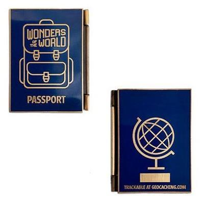 Wonders of the World Passport Geocoin and Trackable Tag Set - 1
