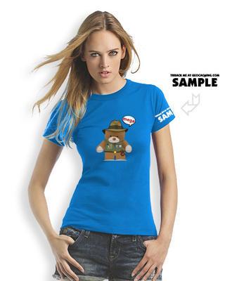 Megaevent t-shirt Brugse Beer V - ladies blue trackable