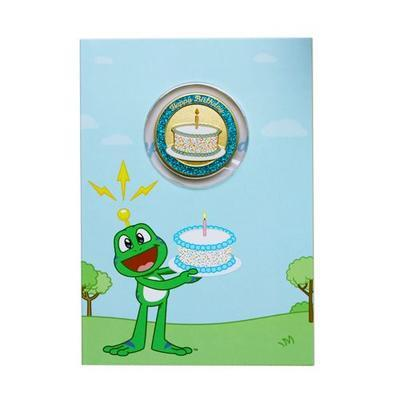 Birthday Card with Geocoin - 1