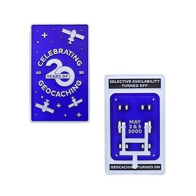 Blue Switch Geocoin- Celebrating 20 Years Edition