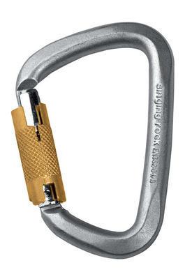 Carabiner Singing Rock D STEEL, triple lock