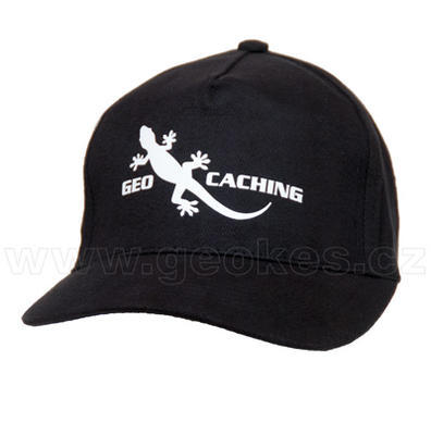 Geocaching gecko cap - black