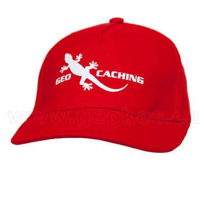 Geocaching gecko cap - red