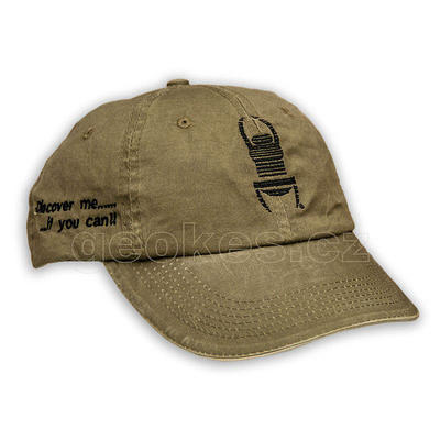 Travel bug trackable cap - khaki