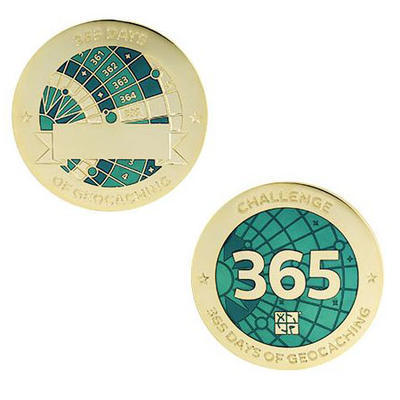 365 Days Milestone Geocoin and Tag Set - 1