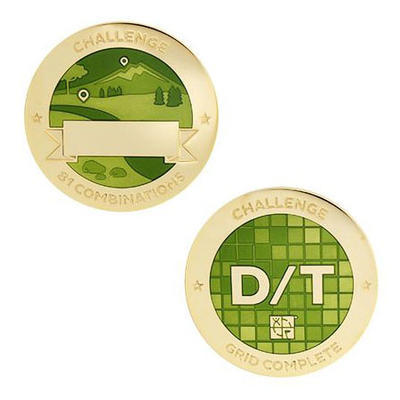 D/T Grid Milestone Geocoin and Tag Set - 1