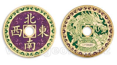 Chinese Dragon geocoin - golden