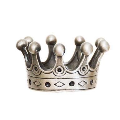 Countess' Crown Geocoin - Antique Silver - 1