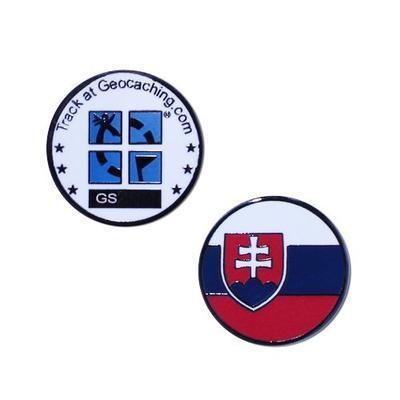 Country Micro Geocoin - Slovakia
