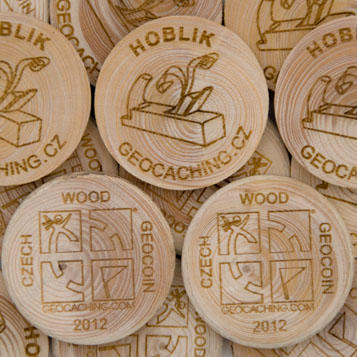 Wooden Coin 75 pcs - 1
