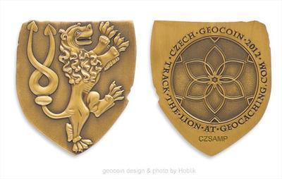 Czech 2012 Geocoin - Antique Gold