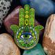 Hamsa Amulet Geocoin - Emerald - 1/2