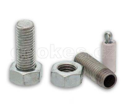 Magnetic bolt geocache - zinc