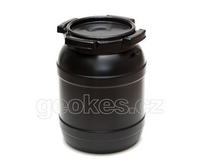 Black geocache container 1 l - 1