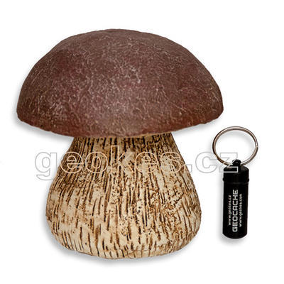 Mushroom geocache - complete kit - 1