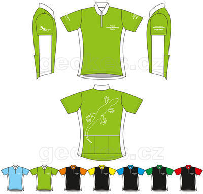 Trackable cycling jersey ladies - geocaching nick - 1