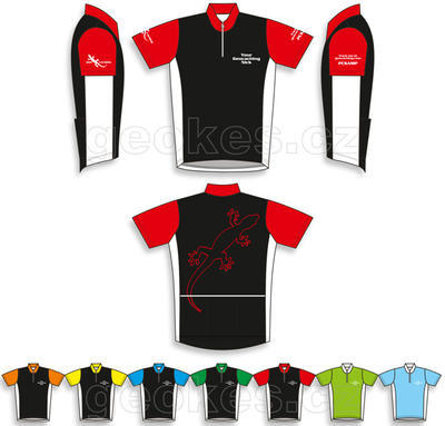Trackable cycling jersey - geocaching nick - 1