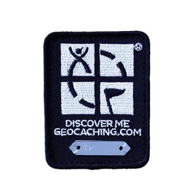 Trackable Geocaching Patch - Black