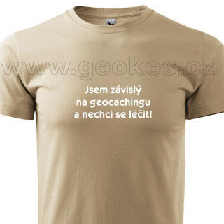 Czech addicted geocacher t-shirt - 1