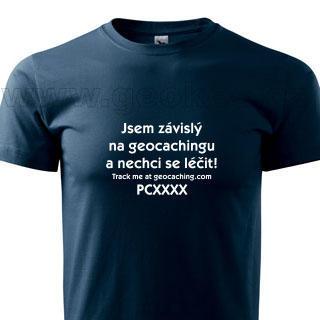Czech addicted geocacher trackable t-shirt - 1
