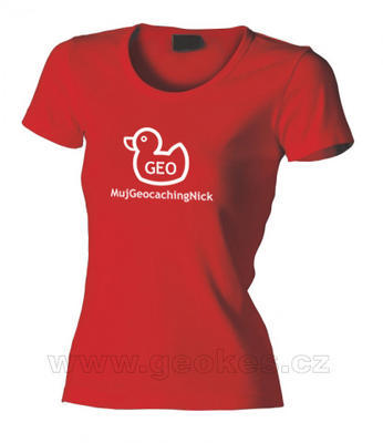 Ladies GEOduck t-shirt - with personal nick - 1