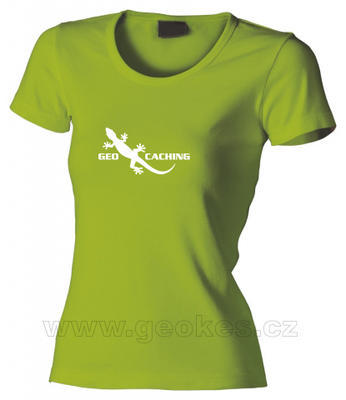 Ladies geocaching gecko t-shirt - 1