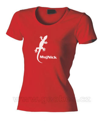 Ladies Gecko t-shirt - with personal nick - 1
