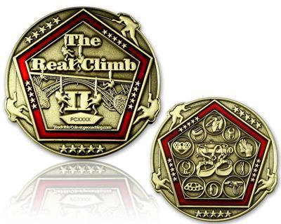 The Real Climb II Geocoin Antique Gold