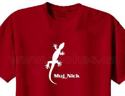 Gecko t-shirt - with personal nick - 1