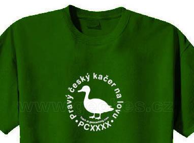 Czech geocacher trackable t-shirt - 1