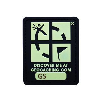 Trackable Geocaching Patch - Glow In The Dark - 1
