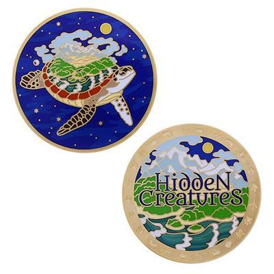 Hidden Creatures Full Size Geocoin and Trackable Tag Set - 1